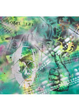 Falentin Art - Painting - Lotus læbe kys - Green
