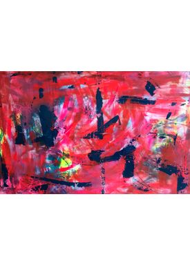 Falentin Art - Painting - Red pop-art - Red