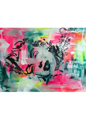 Falentin Art - Painting - Run away with me - Multi