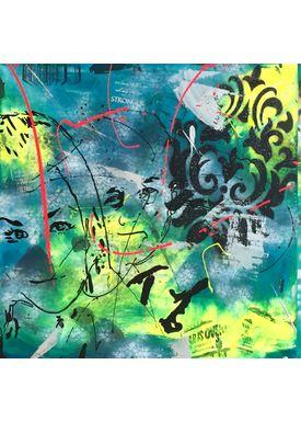 Falentin Art - Painting - Stronger - Green