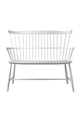 FDB Møbler / Furniture - Bench - J52D by Børge Mogensen - White
