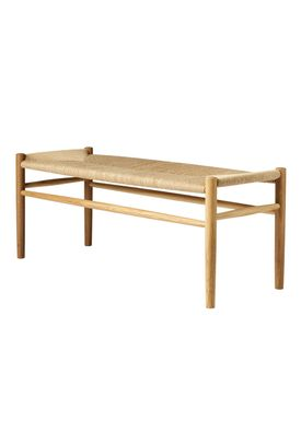 FDB Møbler / Furniture - Bench - J83B by Jørgen Bækmark - Nature Oak/Nature Wicker