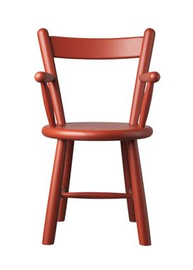 FDB Møbler / Furniture - Kids chair - P9 by Børge Mogensen - Birch / Red