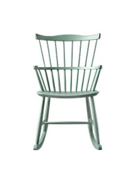 FDB Møbler / Furniture - Gyngestol - J52G af Børge Mogensen - Støvet Grøn