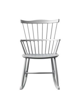FDB Møbler / Furniture - Gyngestol - J52G af Børge Mogensen - Grå