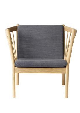 FDB Møbler / Furniture - Lænestol - J146 af Erik Ole Jørgensen - Eg/Antracit Grå