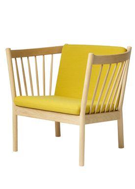FDB Møbler / Furniture - Lænestol - J146 af Erik Ole Jørgensen - Eg/Okkergul