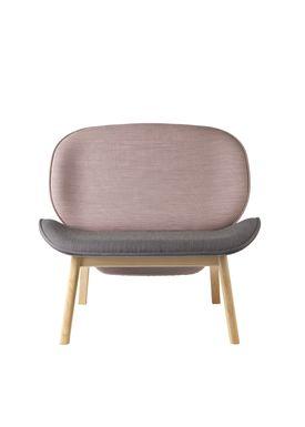 FDB Møbler / Furniture - Lænestol - L32 Suru af Carina Maria - Grå/Lyserød