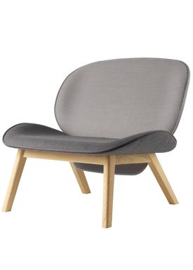 FDB Møbler / Furniture - Lounge Chair - L32 Suru by Carina Maria - Grey/Grey