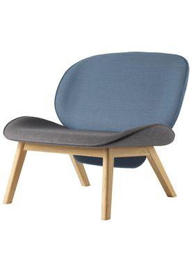 FDB Møbler / Furniture - Lænestol - L32 Suru af Carina Maria - Grå/Blå