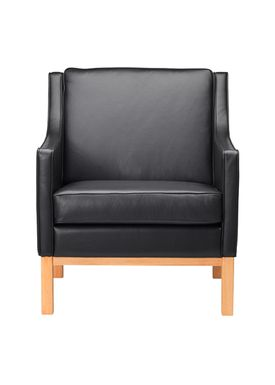 FDB Møbler / Furniture - Fåtölj - L603 by Erik Wørts - Nature/Black