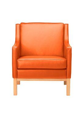 FDB Møbler / Furniture - Lænestol - L603 af Erik Wørts - Natur/Congac