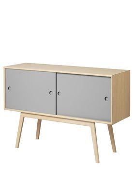 FDB Møbler / Furniture - Sideboard - A83 by Foersom & Hiort-Lorenzen - Nature/Grey