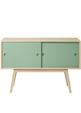 FDB Møbler / Furniture - Sideboard - A83 by Foersom & Hiort-Lorenzen - Nature/Green
