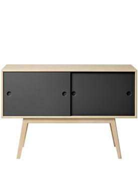 FDB Møbler / Furniture - Sideboard - A83 by Foersom & Hiort-Lorenzen - Nature/Black
