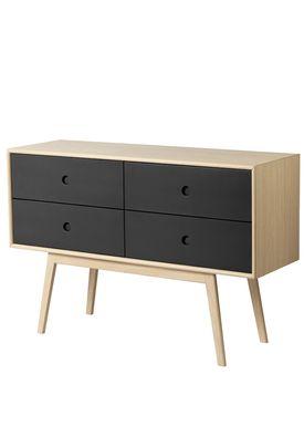FDB Møbler / Furniture - Sideboard - F22 by Foersom & Hiort-Lorenzen - Nature/Black