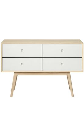 FDB Møbler / Furniture - Sideboard - F22 by Foersom & Hiort-Lorenzen - Nature/White