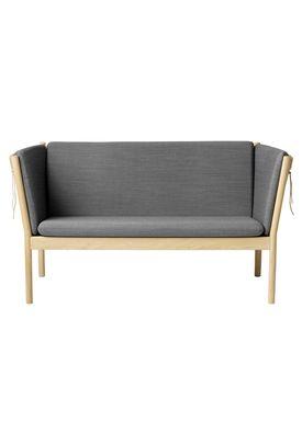 FDB Møbler / Furniture - Sofa - J148 2 pers af Erik Ole Jørgensen - Eg/Antracit Grå