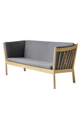 FDB Møbler / Furniture - Sofa - J149 3 pers af Erik Ole Jørgensen - Eg/Antracit Grå