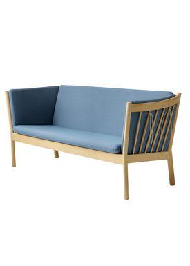 FDB Møbler / Furniture - Sofa - J149 3 pers af Erik Ole Jørgensen - Eg/Dusty Blå