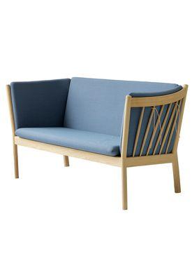 FDB Møbler / Furniture - Sofa - J148 2 pers af Erik Ole Jørgensen - Eg/Dusty Blå