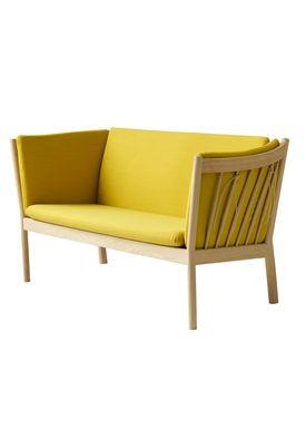 FDB Møbler / Furniture - Sofa - J148 2 pers af Erik Ole Jørgensen - Eg/Okkergul