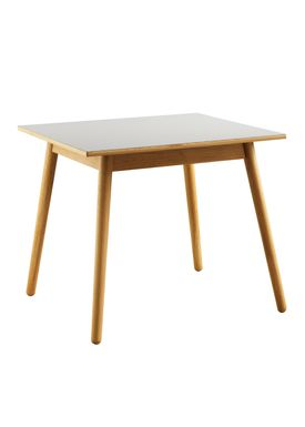 FDB Møbler / Furniture - Dining Table - C35A by Poul M. Volther - Oak / Linoleum - Natural / Gray