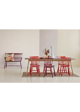 FDB Møbler / Furniture - Dining Table - C35C by Poul M. Volther - Oak / Linoleum - Natural / Black
