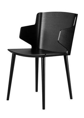 FDB Møbler / Furniture - Chair - J155 Yak by Tom Stepp - Beech / Black / With armrest
