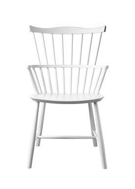 FDB Møbler / Furniture - Chair - J52B by Børge Mogensen - Beech / White / Lacquered