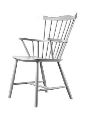 FDB Møbler / Furniture - Chair - J52B by Børge Mogensen - Beech / Gray / Lacquered