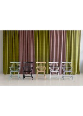 FDB Møbler / Furniture - Chair - J52B by Børge Mogensen - Beech / Dusty green / Lacquered