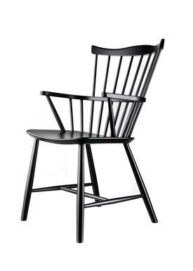 FDB Møbler / Furniture - Chair - J52B by Børge Mogensen - Beech / Black / Lacquered