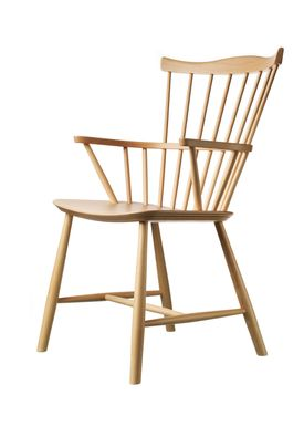 FDB Møbler / Furniture - Chair - J52B by Børge Mogensen - Beech / Lacquered / White pigmented