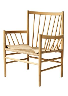 FDB Møbler / Furniture - Stol - J82 by Jørgen Bækmark - Nature Oak/Nature Wicker