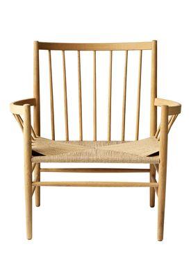 FDB Møbler / Furniture - Stol - J82 af Jørgen Bækmark - Natur Eg/Natur Flet