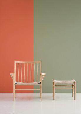 FDB Møbler / Furniture - Chair - J82 by Jørgen Bækmark - Black Beech/Black Wicker