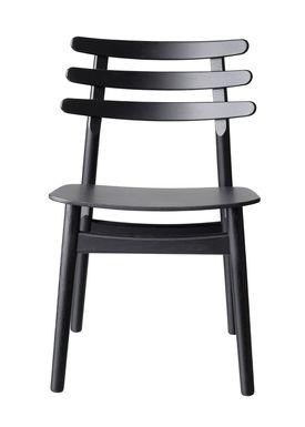FDB Møbler / Furniture - Chair - J48 by Poul M. Volther - Oak / Black lacquered / Black oak veneer