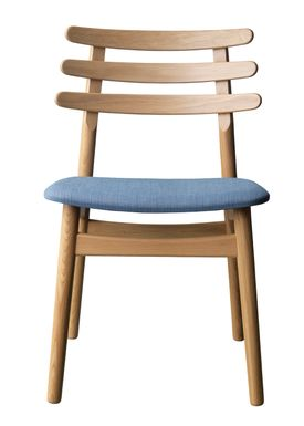 FDB Møbler / Furniture - Chair - J48 by Poul M. Volther - Oak / Greyblue