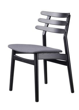 FDB Møbler / Furniture - Chair - J48 by Poul M. Volther - Oak / Black lacquered / Anthracite
