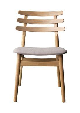 FDB Møbler / Furniture - Chair - J48 by Poul M. Volther - Oak / Beige melange