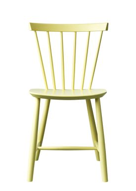 FDB Møbler - Chair - J46 by Poul M. Volther - Light Yellow