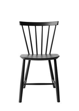 FDB Møbler - Chair - J46 by Poul M. Volther - Black