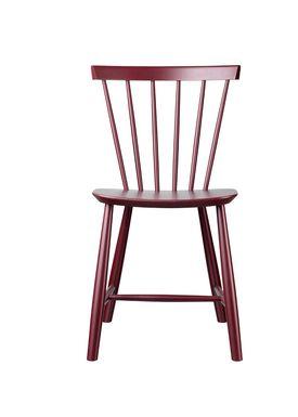 FDB Møbler - Chair - J46 by Poul M. Volther - Bordeaux