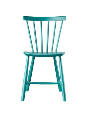 FDB Møbler - Chair - J46 by Poul M. Volther - Petrol Blue