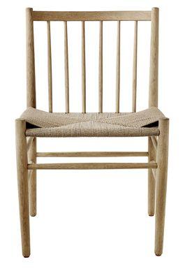 FDB Møbler - Chair - J80 by Jøren Bækmark - Nature Oak/Nature Wicker
