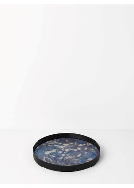 Ferm Living - Bricka - Coupled Tray - Round Large - Blue ... 84872690f383b