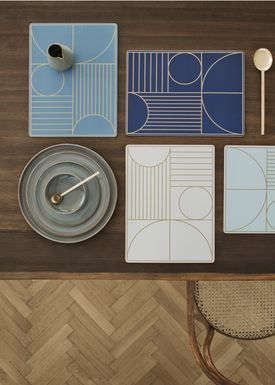 Ferm Living - Dinner Mat - Outline Dinner Mat - Dusty Blue