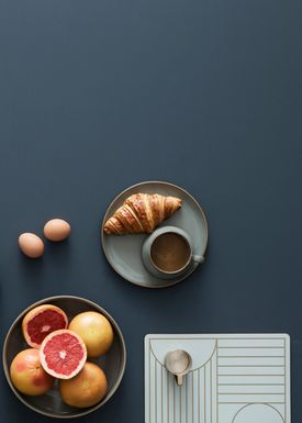 Ferm Living - Dinner Mat - Outline Dinner Mat - Off- White
