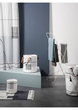 Ferm Living - Towel - Organic Hand Towel - Dark grey